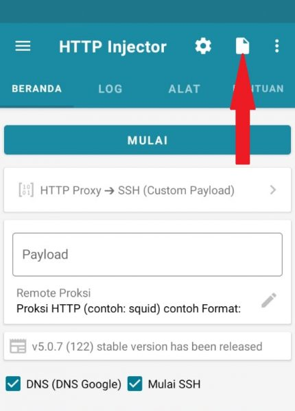 config http injector indosat